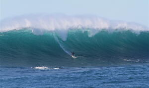 Greg Long played his usual patience game, and it paid off. Photo: Sharp