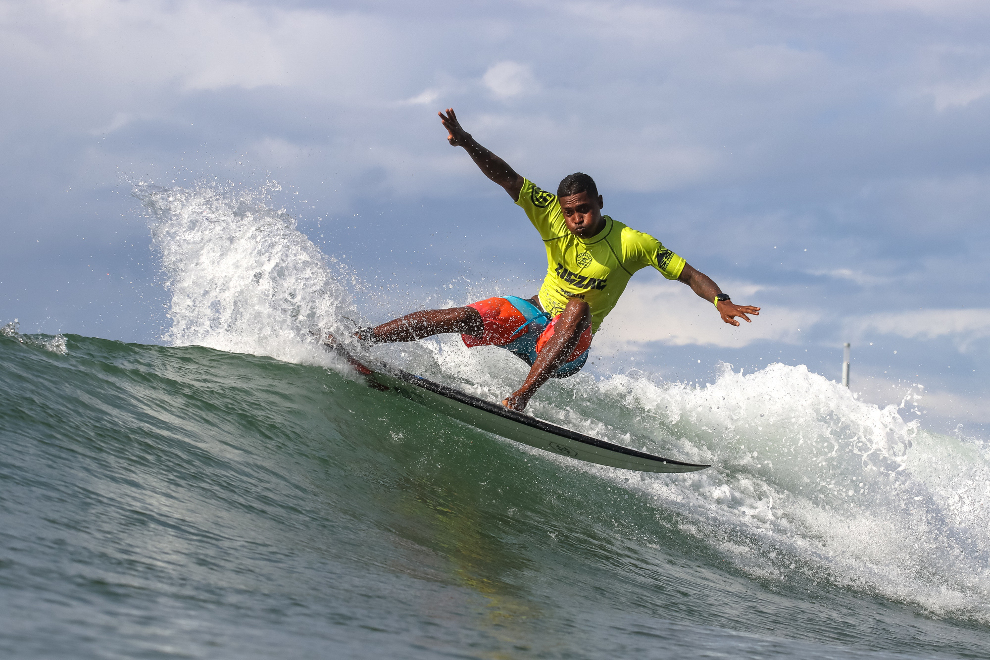 Brain Furcy (MUS) on Day 1 of the Zigzag Durban Surf Pro pres. by G-Force