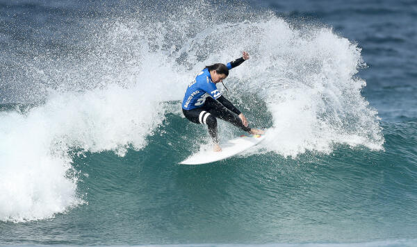 Nikita Robb placing second in Semifnal 1 of the Womens Ballito Pro Presented by Billabong QS1000.
