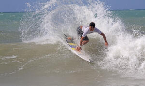 Italo Ferreira (BRA) finished runner-up at the 2014 Red Nose Pro Junior.