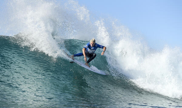 Ethan Ewing placed second in his Quarter Final in Ballito Pro Presented by Billabong QS10000.