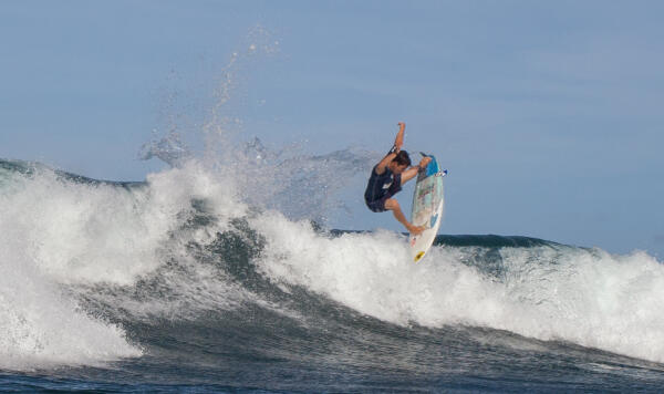 Nolan Rapoza (USA) earning runner-up at the Soup Bowl Pro Junior