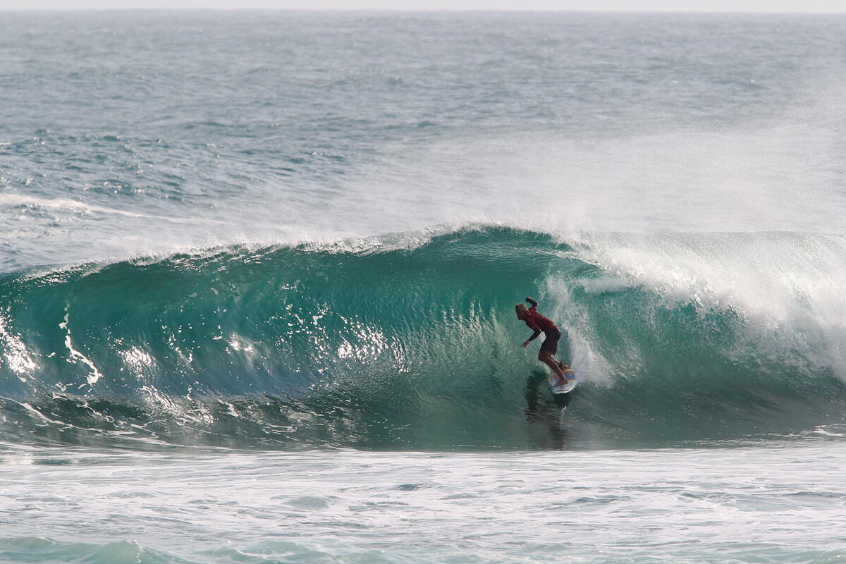 Chris Zaffis on Day 1 of the Hello Pacitan Pro.