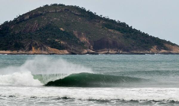 Grumari, the new primary site for the Oi Rio Pro, is up the road from Postinho on a private reserve.