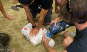 Big wave risk assessment group, CPR training.