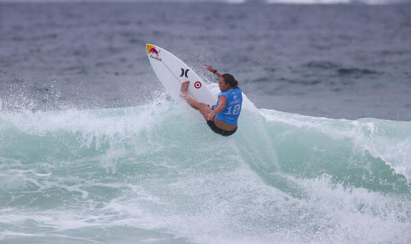 Carissa Moore of Hawaii during the quarterfinals at the Oi Rio Women's Pro.