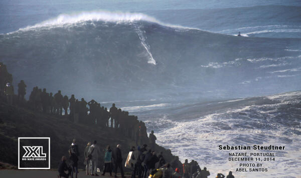 Sebastian Steudtner at the December 11 Nazare Super Session. Photo by Abel Santos.