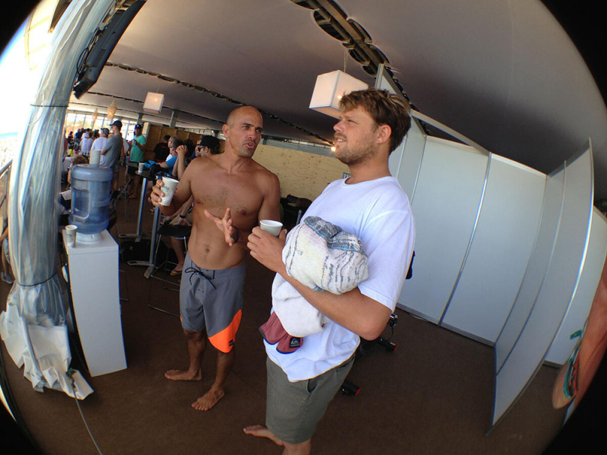 Kelly Slater and Dane Reynolds