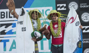 Taumata Puhetini and Bruno Santos win the Air Tahiti Nui Trials.