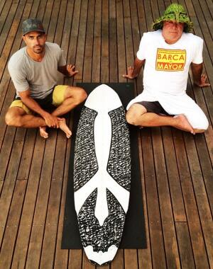 Kelly Slater's orca board