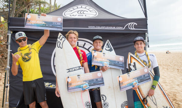 Finalists from the Pipe Pro Junior